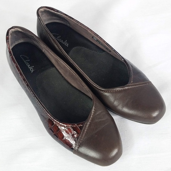 Clarks Shoes - Clarks Caswell Eternity Brown Leather Slip On 7.5